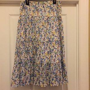 Chaps Cotton Floral Skirt